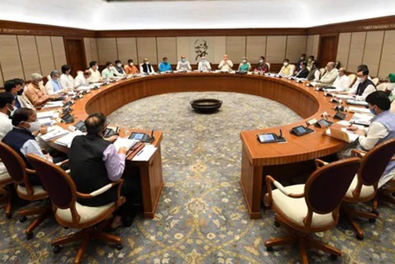 भारतको मन्त्रिपरिषद् बैठक भौतिक रुपमा एक वर्षपछि बस्यो